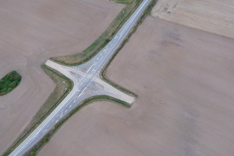 Luftaufnahme Verkehr Niedersachsen